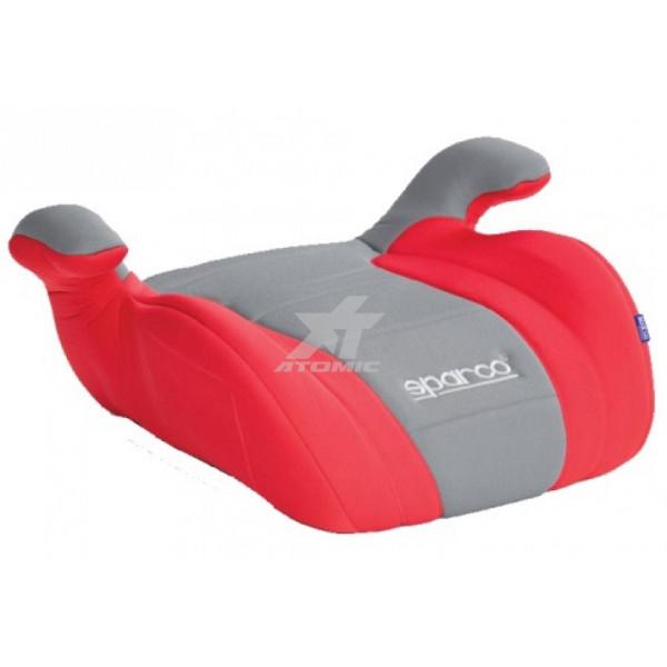 SPARCO ****Детское кресло F100-K Бустер от 22 до 36 кг, от 9 до 12 лет, красно-серое