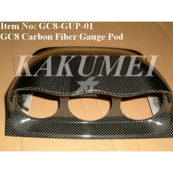 KAKUMEI GC8-GUP-52 Подиум под три прибора 52mm IMPREZA GC8 (Carbon)